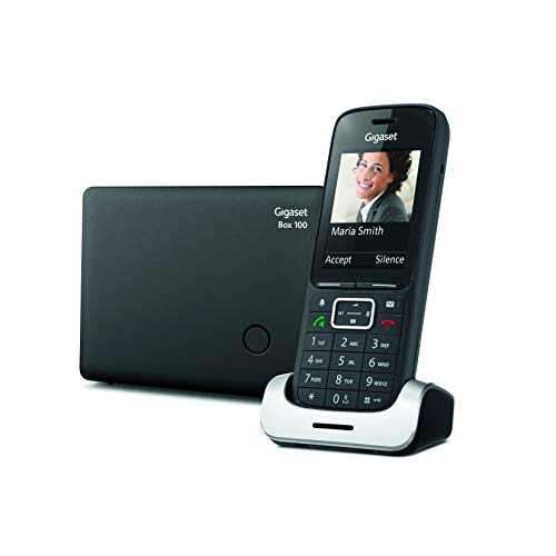 Gigaset SL 390 Telefono Cordless con Base Staccata, Adatto Anche per la Fibra, Nero [Versione Italiana]
