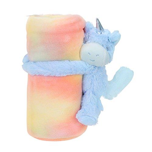 Doudou pour bébé en forme de licorne, couverture douillette, idéal comme cadeau - BF 113