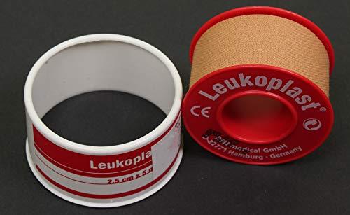 2 Leukoplast Tape 2,5 cm x 5 m 2 Stück