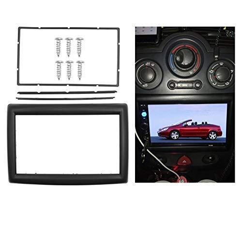 HUOGUOYIN Embellecedor de coche compatible con Renault Megane II 2002-2009, adaptador de CD y audio estéreo para salpicadero de 2 DIN.