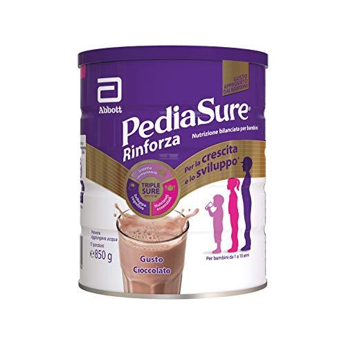 Pediasure - Integratore per Bambini con Vitamine, Minerali, Proteine   per Difese Immunitarie, Inappetenza, Concentrazione   Confezione 850g   Gusto Cioccolato