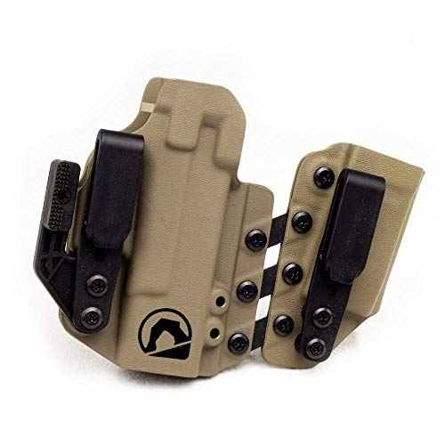 Black Arch Entrada Appendix Carry Holster for a Glock 43/43X/48 (with Glock 43X/48 Mag) - FDE&Black
