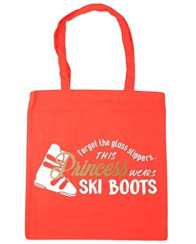 WENNUNA Vergeet de glazen pantoffels Deze prinses draagt skischoenen Tote Shopping Gym Beach Bag