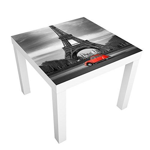 Möbelfolie für IKEA Lack Klebefolie Dekorfolie Aufkleber Spot on Paris 55 x 55cm
