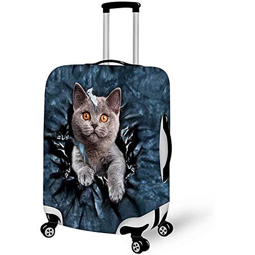 Fundas de Equipaje Protector Cute 3D Cat Impreso Maleta Cubierta Tamaño M