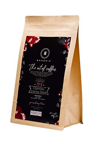 BOHORIA® Coffee | Ganze Kaffee-Bohnen | Espresso, 250g | Premium Arabica & Robusta, Stärkegrad 5 von 5 | Roasted in Italy | geeignet für Kaffeevollautomat | ZipBag für lange Haltbarkeit