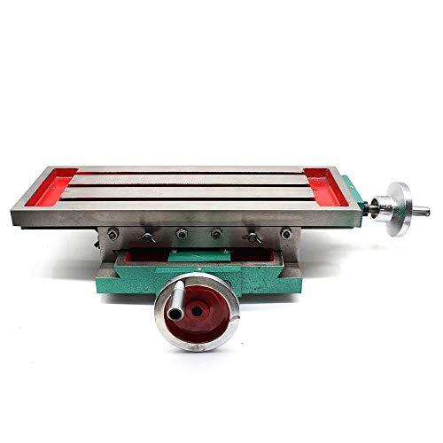 PRIT Mesa de trabajo para taladro fresadora soporte, Precisión tabla cruzada con abrazaderas Eje de X Y Mesa de ajuste Taladro de tornillos de banco Mesa transversal