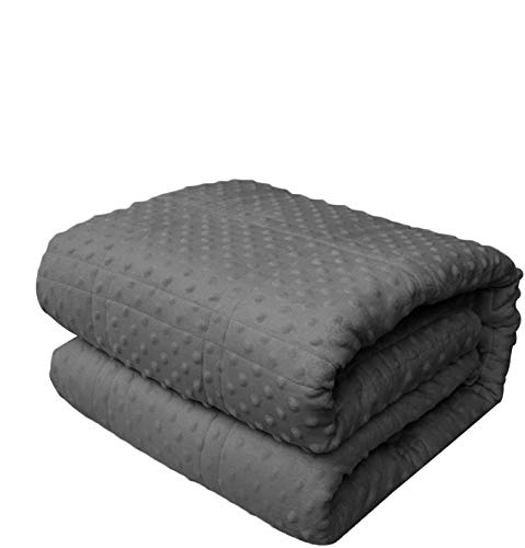 """DEARTOWN Quility Premium Adult Weighted Blanket & Removable Cover for Individual King Size Bed 
