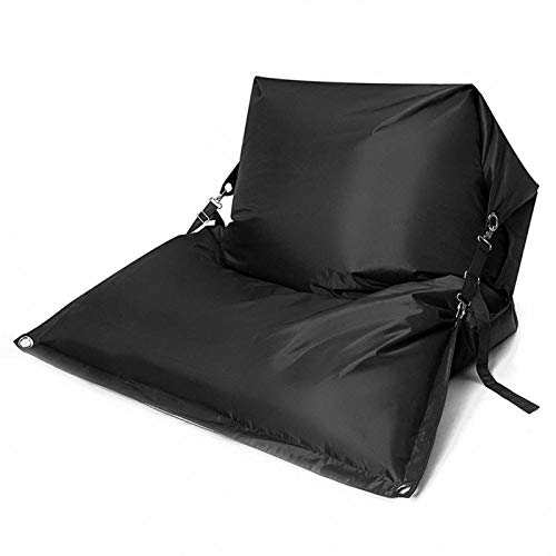 gujiu wasserdichte Oxford Tuch Recliner Cover, Sitzbeutel Sitzbezug, Bohnenbeutel Puff Lazy Sofa, Tatami Home Outdoor Camping Kissen (Color : Black)