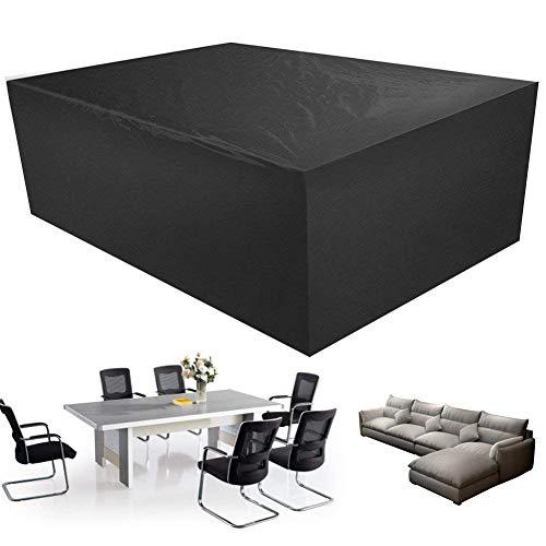 Ruankenshop Cubierta de los Muebles Mobiliario de jardín Mobiliario de jardín Fundas Redondas para Muebles de Patio Impermeables