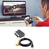 Nihlsfen Cable Adaptador Dos en uno Compatible con HDMI a 3Rca Scart Cable de Audio S-Video Macho Compatible con HDMI de 1,5 M a 3 RCA AV 3