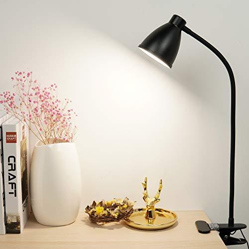 クリップライト 読書灯 3段調色 10段調光 ベッドサイドランプ10W 38LED USBタイプ 自動シャットダウンタイマー付き LEDデスクライト360°フレキシブルグースネック