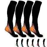 Canotagio 2 Pares de Calcetas/Calcetines de Compresión. Perfectas para Diabéticos o para Hacer Deporte y Mejorar la Circulación. Disponibles en 2 tallas y 6 colores. Compression Socks.