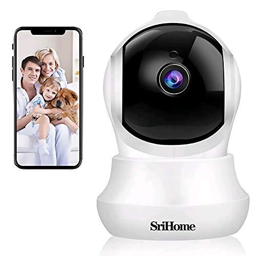 Telecamera WI-FI Interno SriHome SH020,1296p Videocamera Sorveglianza Interno WIFI,Videocamera di Sicurezza per Animali Domestici/Bambini,Rilevazione di Movimento,Audio Bidirezionale,Visione Notturna
