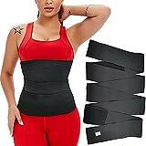 Waist Trainer Body Shaper Sweat Slimming Belt Shapewear Women Men Underwear Women Free Size Wraps Weight Loss Waist Support Trainer Back Braces Postpartum Recovery for Women (Black3)