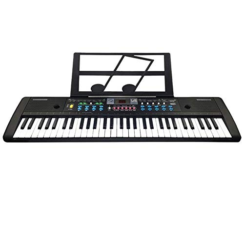 Kids Elektronisch Toetsenbord Piano, 61 Toetsen Digital Electronic Keyboard En Microfoon Electric, Led Musical Instruments Digital Piano Controller
