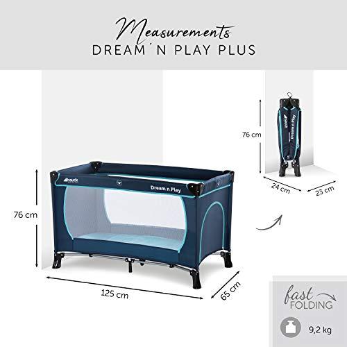 Hauck Kinderreisebett Dream N Play Plus, inkl. Hauck Reisebettmatratze, tragbar und klappbar, 120 x 60 cm, blau - 2