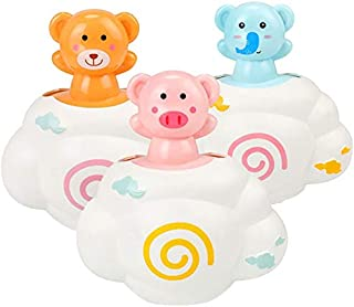 JVSISM 3 Pack Rain Cloud Bathtub Toys for Kids Bathtub Time for Kids Colorful Shower Head Fun Bath Toys Clockwork Water Toys