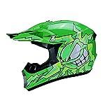 MIBDF - Casco infantil para moto, casco de motocross MX MTB BMX Cross-Bike Downhill Off-Road Sport Pocket-Bike, certificación DOT