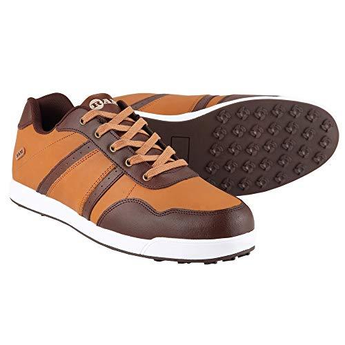 Ram FX Comfort Mens Waterproof Golf Shoes - Brown- UK 10