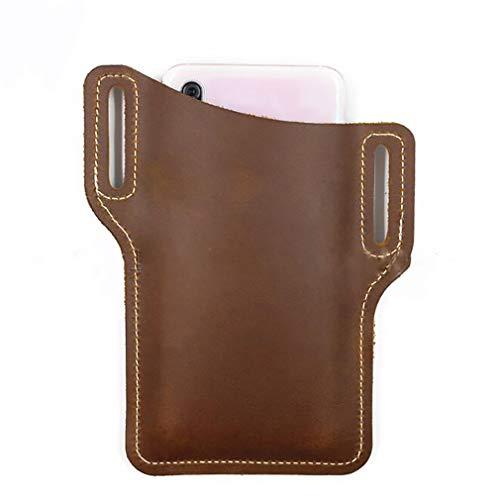 Kaned - Bolsillo para cinturón de camping, ajustable, para colgar en la cintura, marrón (Marrón) - Kaned