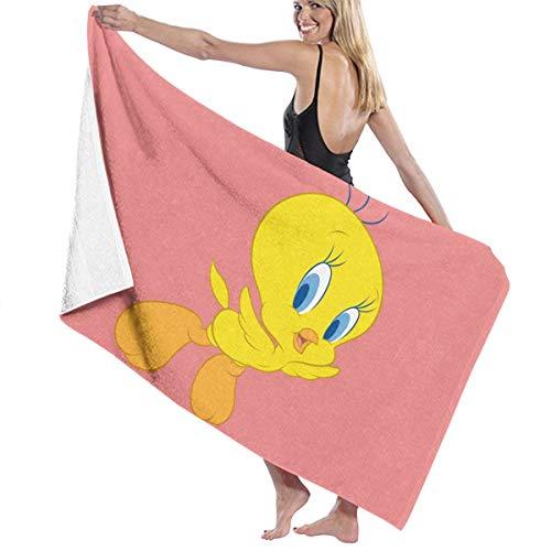 Zachary Sherman Tweety Bird Looney Tunes Badetuch für Bad und Dusche, antibakteriell, saugstark, weich, 130 x 80 cm
