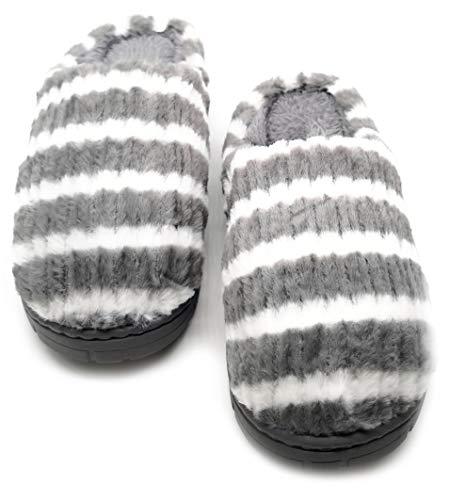 Zapatillas De Estar por Casa Mujer Rayas Invierno Pantuflas...