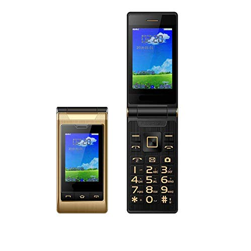 Teléfono móvil con botón grande para personas mayores, teléfono móvil abatible para personas mayores, GSM Dual SIM, desbloqueado gratis con pantalla LCD de 2,8 pulgadas, números parlantes, linterna,