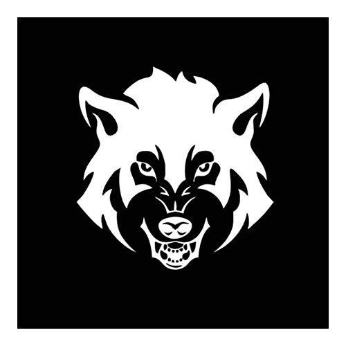 Security Accessory YINGGUICHENG Shop 16x16.4CM Perro de la Cara del Lobo asustadiza Adoptar Etiqueta Entera Material del Cuerpo del Coche del Vinilo Negro Plata C2-3246 / (Color : Silver)