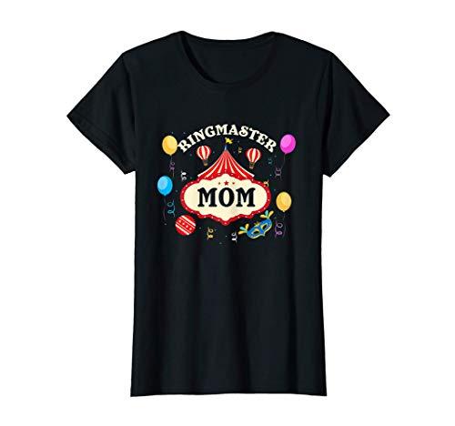 Mujer Ringmaster Mamá Circo Madre Carnaval Fiesta de disfraces de Camiseta