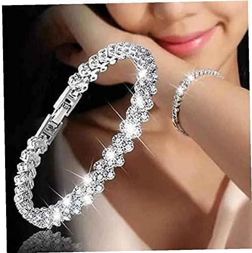 ZKZKK Pulsera de la Riqueza Feng Shui Pulsera de Cristal de Corte Redondo Faux Diamond Bangle Jewelry Puede traer Suerte y Prosperidad