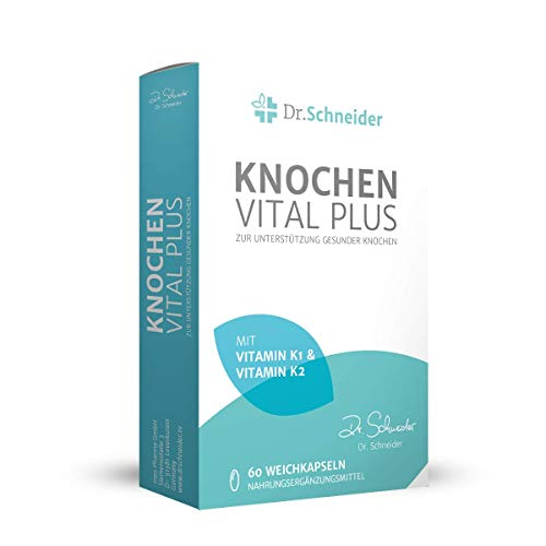 Dr. Schneider Bone Vital Plus ● met vitamine C, D, K1 & K2 ● calcium ● lijnolie rijk aan omega-3 ● 60 capsules ● bekend van Duitse tv