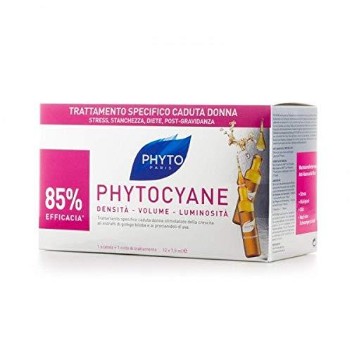 Phyto Linea Phytocyane Tratamiento fortalecedor anticaída mujer 12 ampollas 7,5 ml