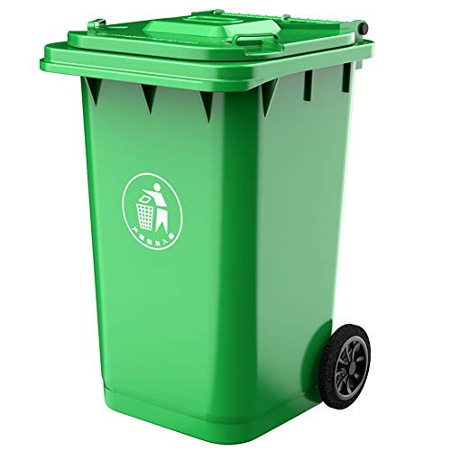 Buy Cheap WDDLD Outdoor Trash Can Large Plastic Sanitation Recycling Bin with Pulley Kitchen Street ...