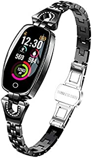 Female's Fitness Tracker, Smart Watch with Blood Pressure/Heart Rate/Sleep Monitor for Women,Black