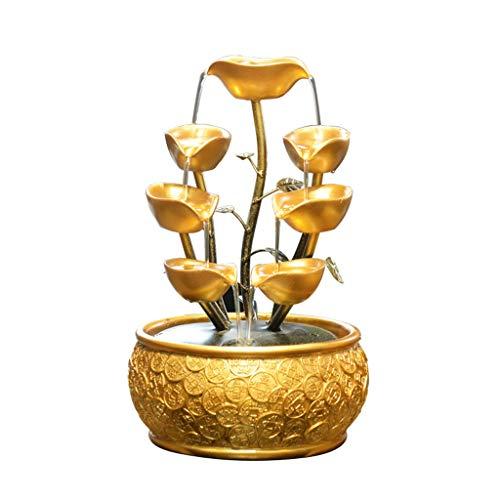 MYBA Fuente para interiores y oficinas, fuentes de agua, cerámica, decoración de fuentes, fuente de agua, fuente de resina, regalo de escritorio (tamaño : S)