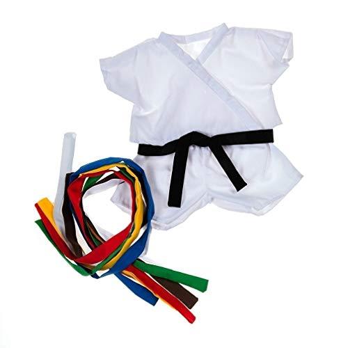 Judo Kimono oder Karate Kimono für 40 cm Plüsch - Kleidung für Teddybär Stofftier Plüschtier - mit farbigen Gürteln