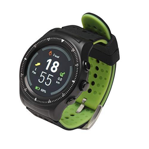 Denver SW-500 Bluetooth-Smartwatch mit GPS und Herzfrequenzmesser, Schwarz/Grün, Uni