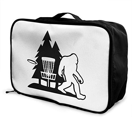 Travel Bag Bigfoot Disc Golf Tree Waterproof Large Capacity Portable Luggage Bag