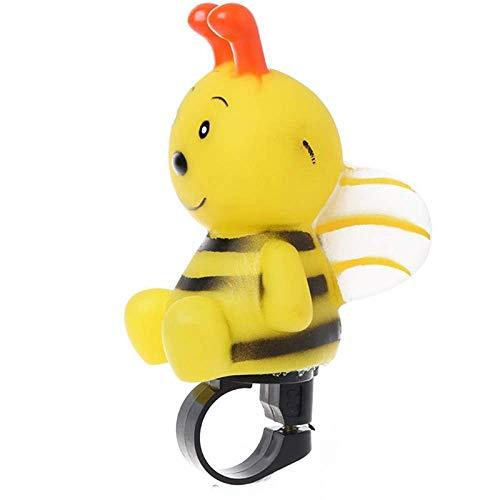 Zoharm Y51D Fahrradklingel für Kinder, Cartoon-Biene, niedliches Sicherheitshupe, Fahrradlenker, Warnung