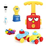 Balloon Car Launcher Set,Balloon Powered Car Balloon Launcher Toy for Kids,Inertial Power Balloon Car Toy,Inflatable Pump Balloon inflator Aerodynamics Educational Gifts for Kids With 16pcs Balloons