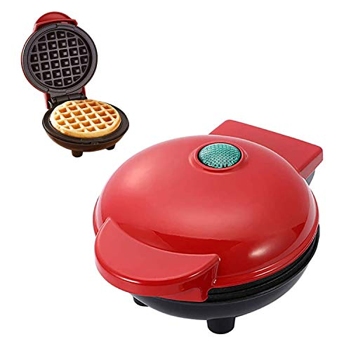 Sorlakar Mini máquina para hacer gofres, plancha de gofres antiadherente para gofres individuales, paninis, panqueques de patata y otros dulces o salados para desayuno, almuerzo o...