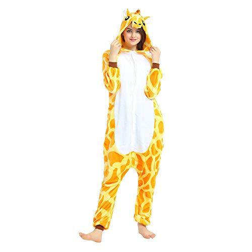 TIFIY 2021 Pijama Animal Entero Unisex para Adultos con Capucha Cosplay Pyjamas Ropa de Dormir Traje de Disfraz para Festival de Carnaval Halloween Navidad