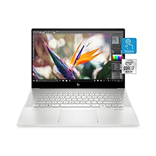 "HP Envy 15 Laptop, Intel Core i7-10750H, NVIDIA GeForce GTX 1650 Ti Graphics, 16 GB RAM, 512 GB SSD Storage,15.6"" Full HD Touchscreen, Windows 10 Home, Fingerprint Reader (15-ep0010nr, 2020 Model) (B0888SQHS6) 