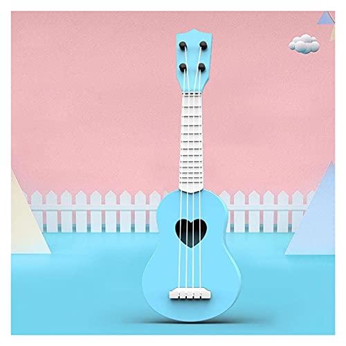 YSJJWDV Ukelele Ukelele para principiantes, para niños, estudiantes con partitura de música, juguetes educativos para fiestas de niños, juguetes de instrumentos Mudsical (color azul)