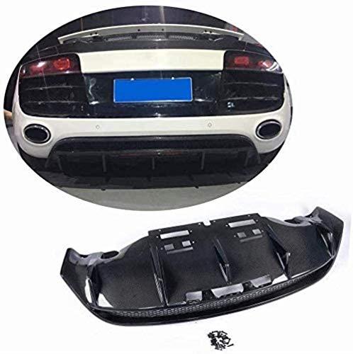 HYCy Difusor Trasero Adecuado para Audi R8 V8 V10 GT Spyder Coup & Eacute;Cabrio 2010-2015 Fibra de Carbono CF Kit de carrocería de alerón de Labios de Parachoques Inferior