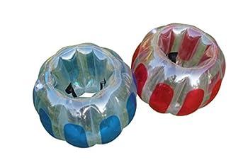 Sportspower Kids Thunder Bubble Inflatable Soccer Suits Blue 23 L x 23 W x 28 H
