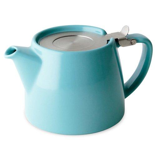 Forlife Teekanne mit Teeei für lose Tees, Fassungsvermögen 530 ml, ideal für 2 Tassen, türkis