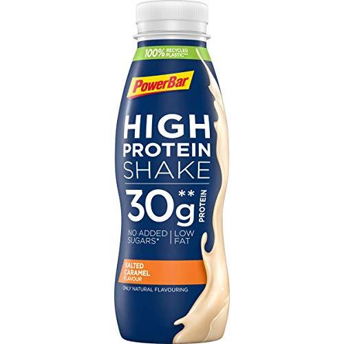 PowerBar High Protein Shake Salted Caramel, 6 x 330 ml, High Protein Low Fat Protein Drink, 1.980 kg