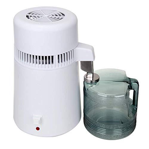 Yonntech Distillateur d'eau, 4L 750W distillateur d'eau Professionnel Filtre à Eau en Acier INOX avec collecteur